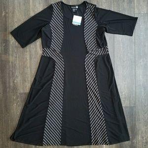 Anything Black Striped Maxi Dress - 3x
